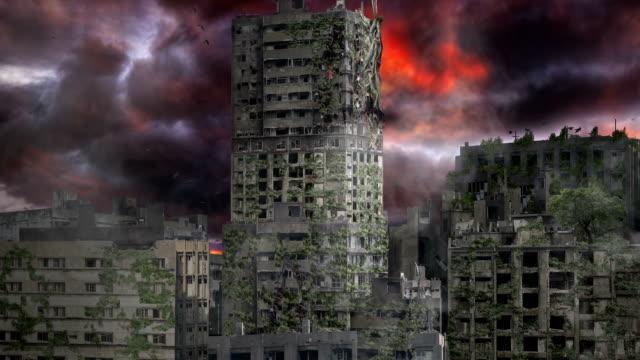 vídeos de stock e filmes b-roll de apocalipse na cidade - apocalipse