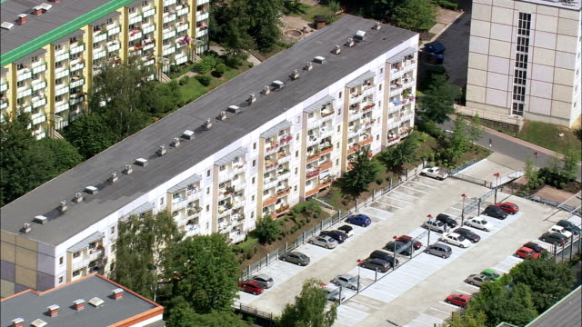 Apolda And Plattenbau Public Housing  - Aerial View - Thuringia,  Weimarer Land helicopter filming,  aerial video,  cineflex,  establishing shot,  Germany video