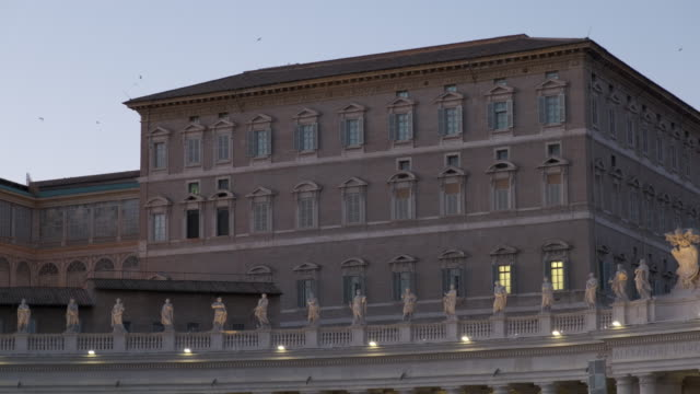 4k - apostolic palace (vatican) - ratzinger video stock e b–roll