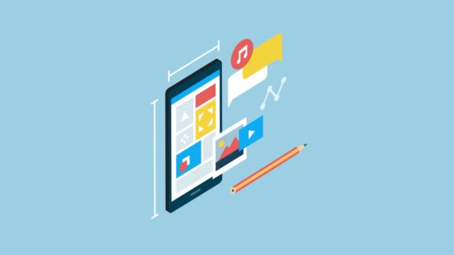 App design and development App design and development on a smartphone multimedia stock videos & royalty-free footage