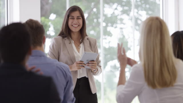 Applauding a Corporate Presentation video