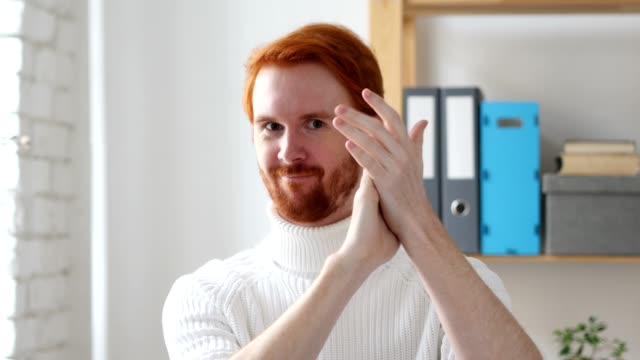 Applause, Clapping Man with Red Hairs Applause, Clapping Man with Red Hairs applauding stock videos & royalty-free footage