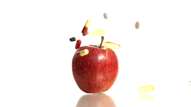 HD SLOW MOTION: Apple And Medicine video