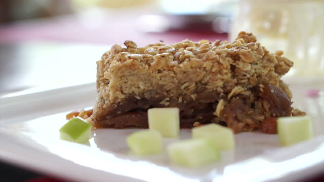 Apple Pie crumble freshly Baked with vanilla ice cream and whip cream video