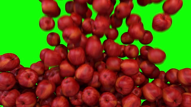 Apples red fill screen transition composite overlay element 4K