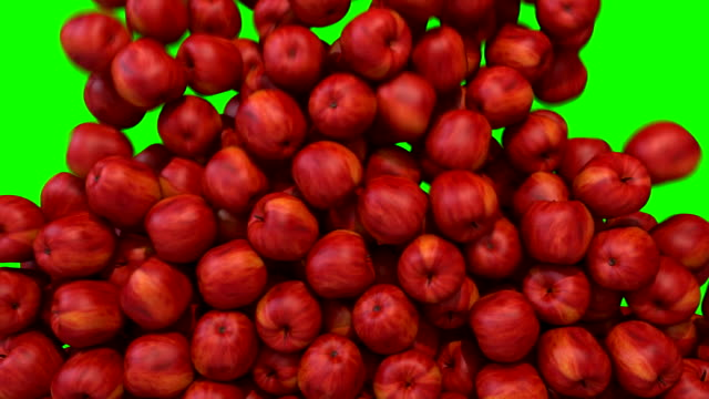 Apples red fill screen transition composite overlay element video
