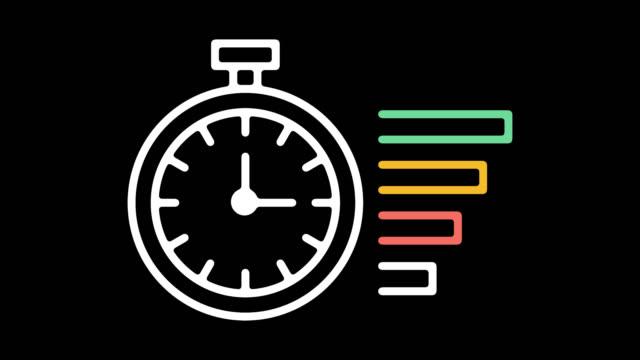 anwendung frist linie symbol animation mit alpha - kalender icon stock-videos und b-roll-filmmaterial