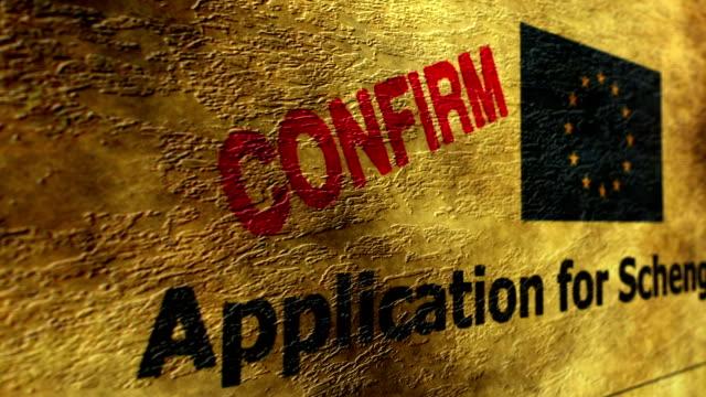 Application for Schengen visa Application for Schengen visa schengen agreement stock videos & royalty-free footage