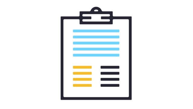 アプリケーション フォームのアイコン アニメーション - レポートのビデオ点の映像素材/bロール