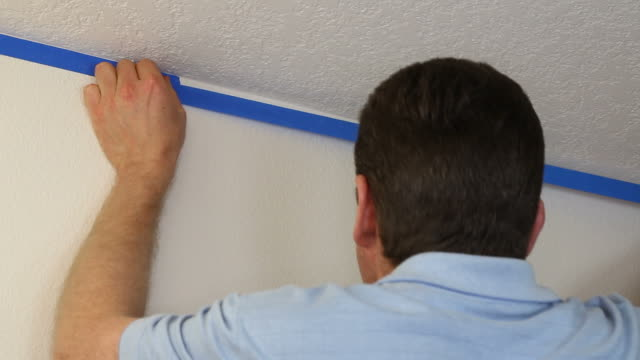 Applying Blue Painter's Tape