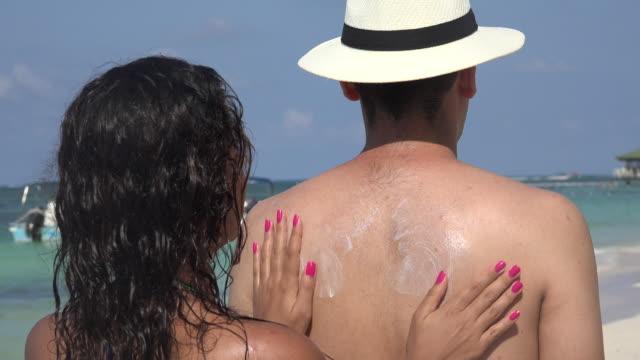 Applying Sunscreen Or Sunblock video