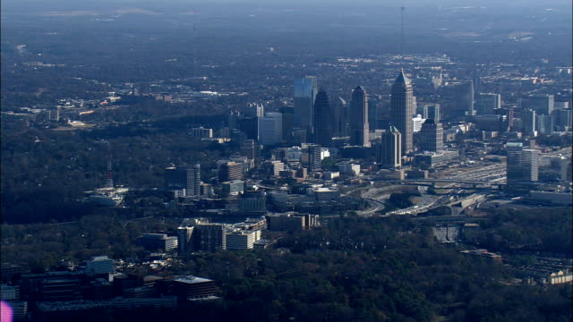 Approaching Atlanta From the North  - Aerial View - Georgia,  Fulton County,  United States