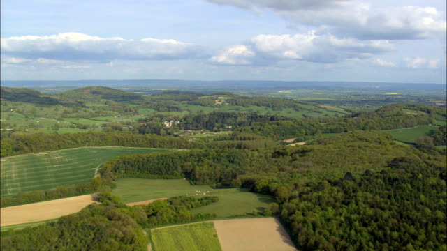 approaching eastnor castle - Aerial View - England,  Herefordshire,  Eastnor,  United Kingdom video