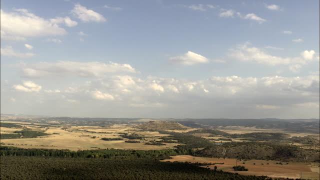 Approaching Gormaz Castle  - Aerial View - Castille and León, Soria, Gormaz, Spain video