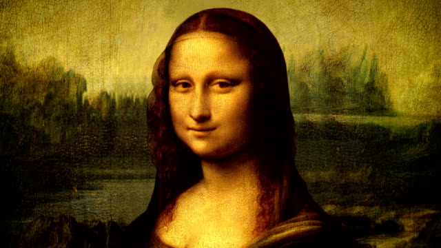 Mona Lisa portrait talking video