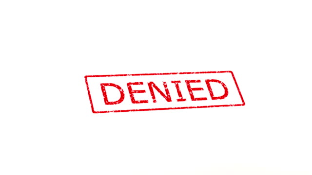 Approved and denied stamp Denied and approved stamped in red on white paper. stamp stock videos & royalty-free footage
