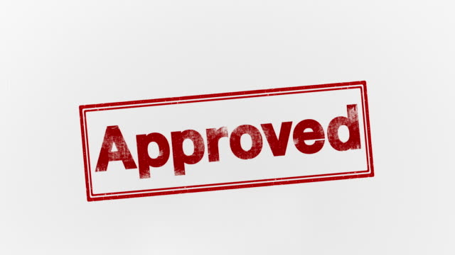 approved officially agree to or accept endorsing stock videos & royalty-free footage