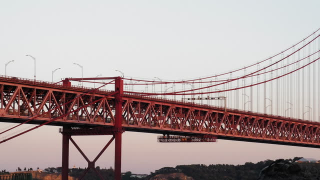 April 25th Bridge Video footage of the April 25th Bridge in Lisbon. ponte 25 de abril stock videos & royalty-free footage