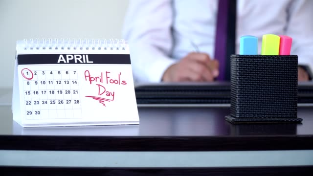 april fool's day - special days - april fools day stock videos and b-roll footage