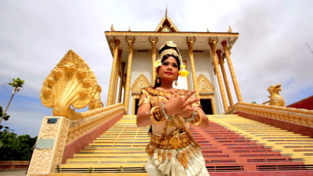 Apsara Dancer beautiful supernatural female in asian mythology video