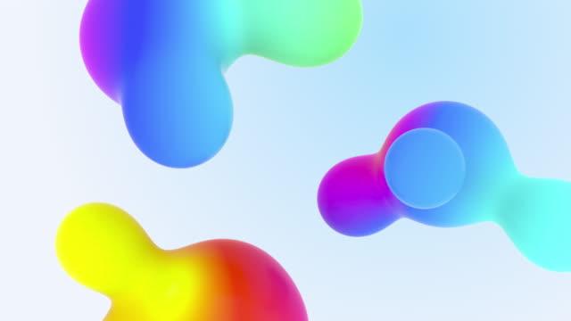 aqua colorful liquid fx gradients astrazione composizione forma minimalista - liquido video stock e b–roll