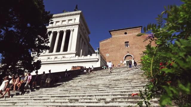 Ara Coeli Church steps in Rome video