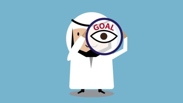 Arab businessmen Determination animation 4K Loop movement