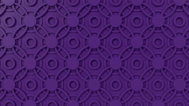 arabesk döngü geometrik desen. mor i̇slam 3d motif. arap oryantal animasyonlu arka plan. - fayans stok videoları ve detay görüntü çekimi