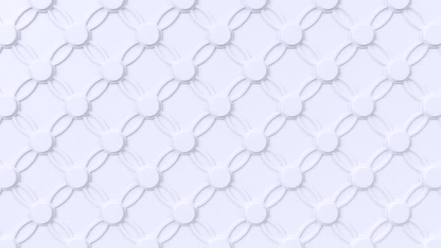 Arabesque looping geometric pattern. White islamic 3d motif. Arabic oriental animated background.