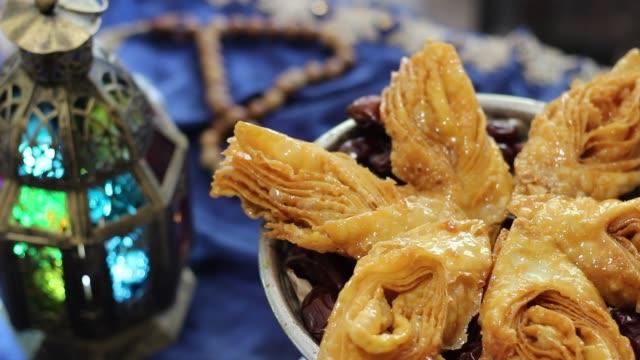 Arabe de bonbons, friandises Oriental traditionnels - Vidéo