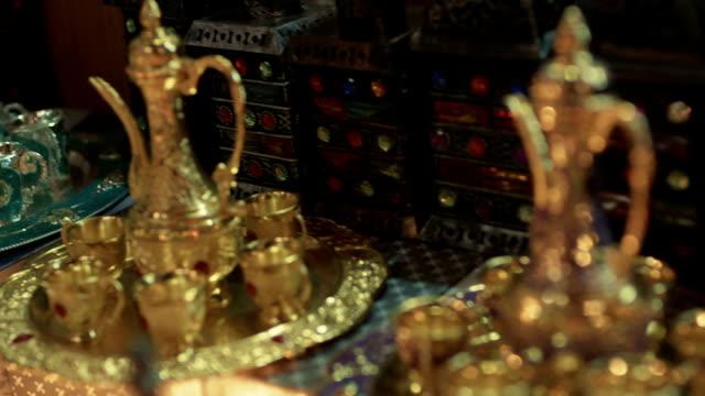 da tè arabo - souk video stock e b–roll