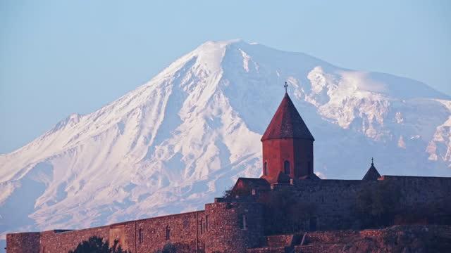 Ararat Mountain and Khor Virap Monastery