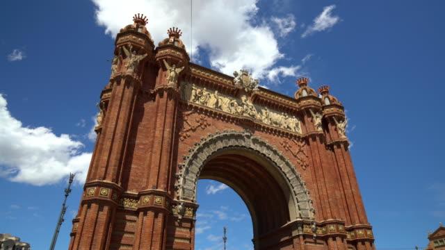 Arc de Triomf in Barcelona, Zeitraffer – Video