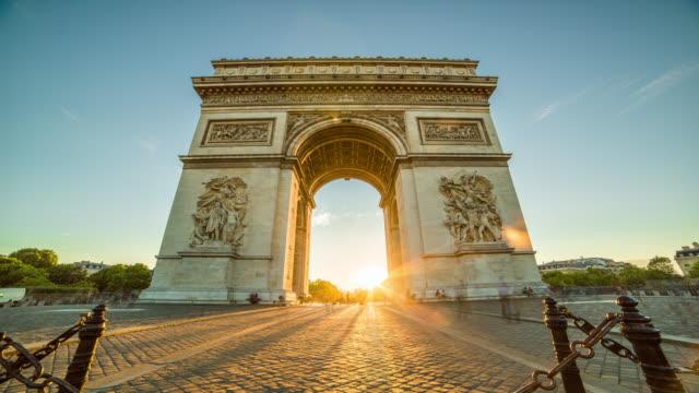 Arc de Triomphe time-lapse video
