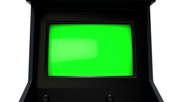アーケード機で zoom (ズーム) - レトロ調点の映像素材/bロール