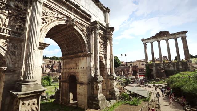 Arch of Septimius Severus video