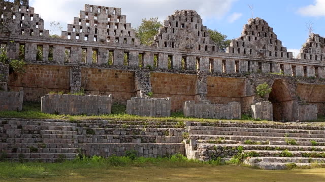 Archaeological site of complex of Uxmal - House of the Doves - Maya culture in Mexico