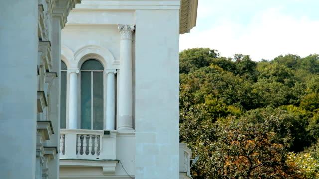 Arched window and balcony letgim day. Yalta. Crimea. video