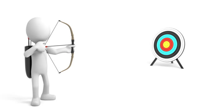 Archery, 3d cartoon character video