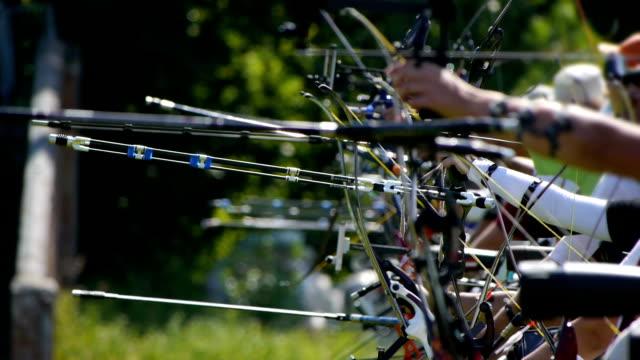 vidéos et rushes de hd-archery. tournoi - tir à l'arc