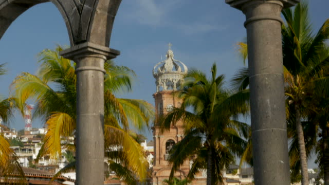 Arches and the Church of our lady Guadalupe Puerto Vallarta, Mexico