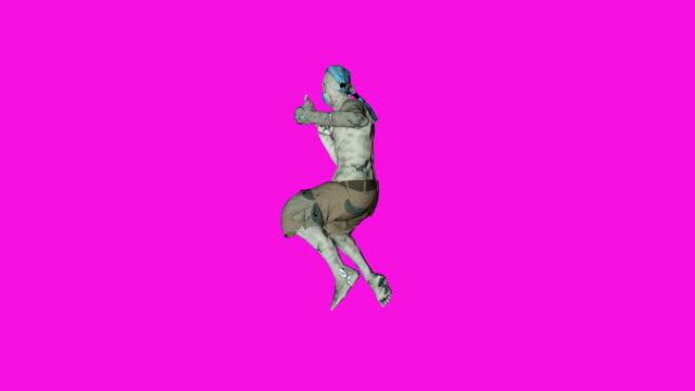 Archibald - Dancing Zombie-Character-Animation in einfarbigen Hintergrund - Schleife – Video