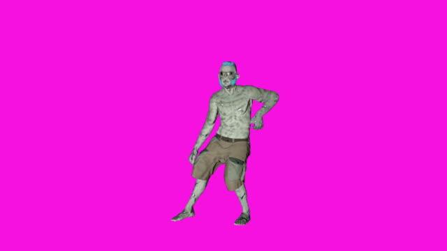 Archibald - Dancing Zombie-Character-Animation in einfarbigen Hintergrund – Video