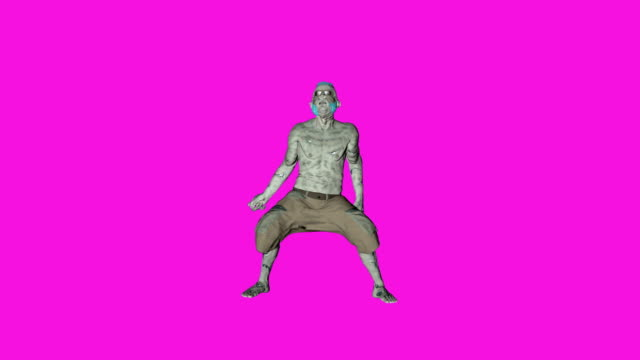 Archibald - Dancing Zombie-Character-Animation in einfarbigen Hintergrund – Video