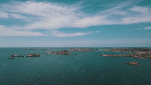 skärgården flygbilder över vatten - bohuslän nature bildbanksvideor och videomaterial från bakom kulisserna