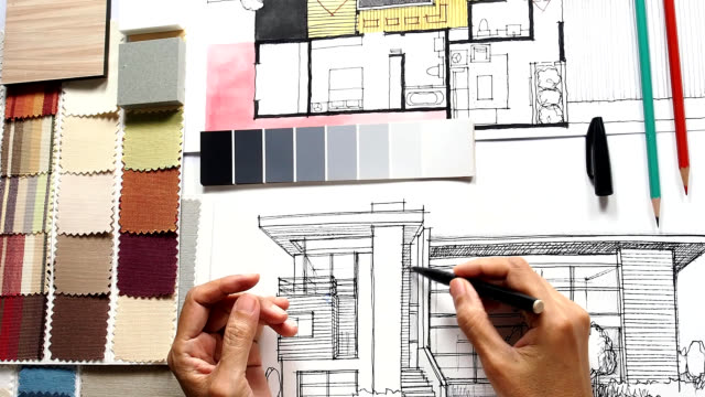 Architect & interior designer working video