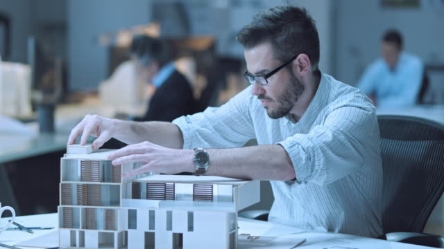 LD Architect putting a roof on his architectural model video