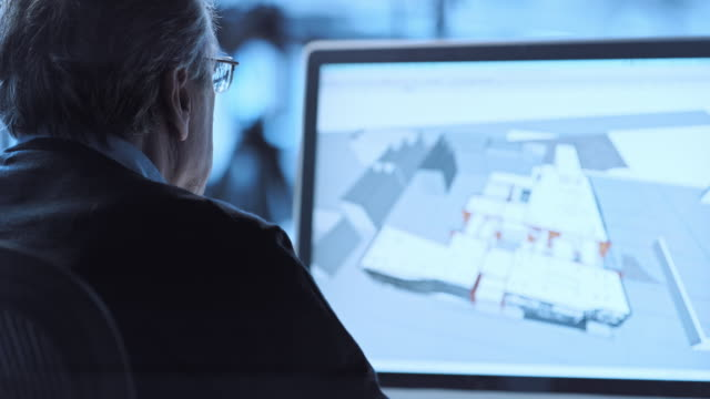 TU Architekten arbeiten mit den CAD-software – Video