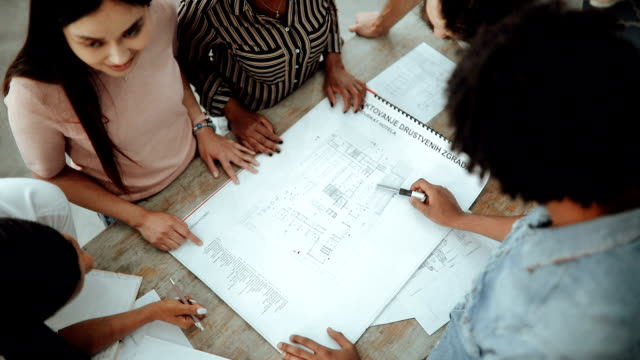 Architects Team defining the design details with Blueprint