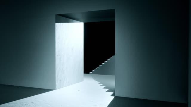 建築抽象化ミニマリズムスタイル、影と光。 - 美術館点の映像素材/bロール